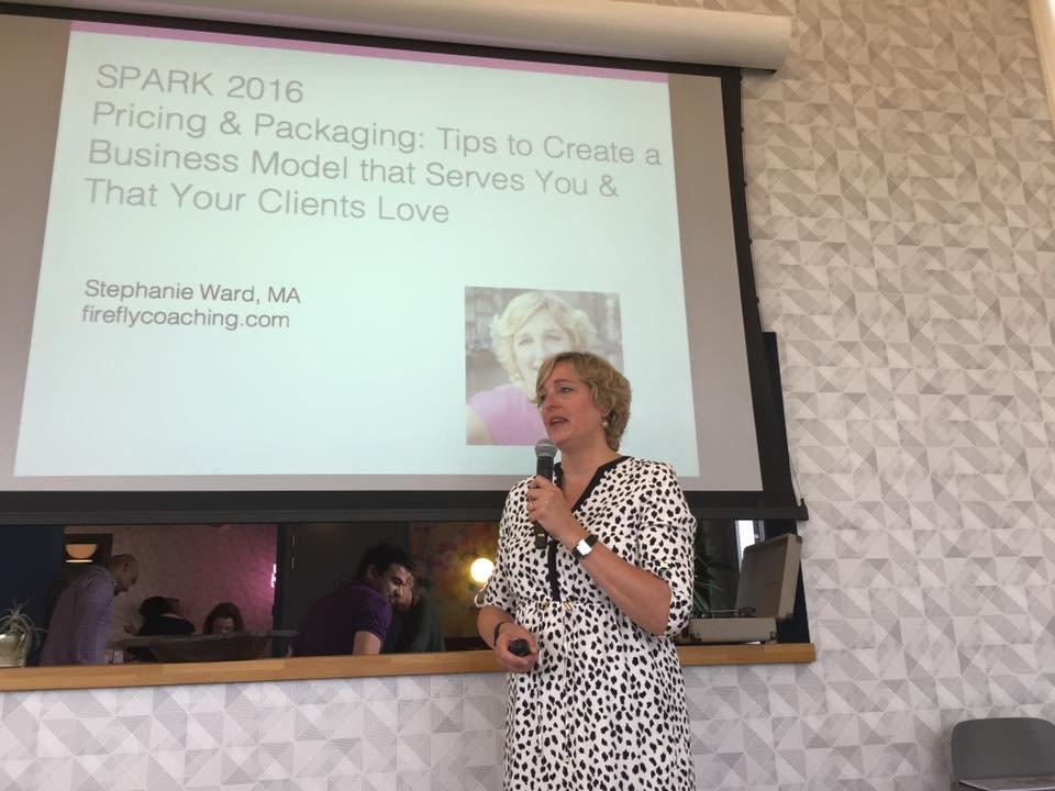 stephanie ward speaking spark taken by ute Limacher-Riebold