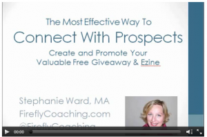 Webinar The Most Effective Way to Connect With Prospects Stephanie Ward